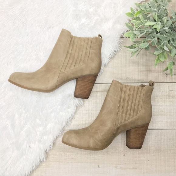 6ff6c101687 Steve Madden Dominic Taupe Block Heel Ankle Boots